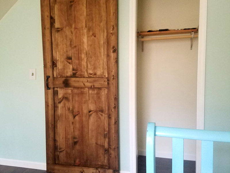 Grayling Cabin - Barnwood Entry Door