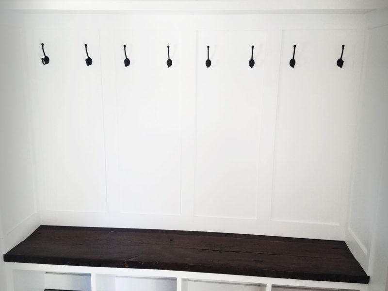 mudroom bench front